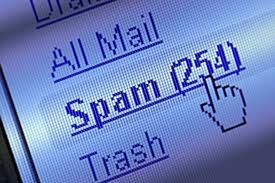 Mouse hovering over spam folder - 254 items!