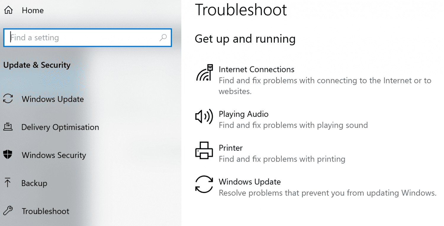 Troubleshooting Windows 10